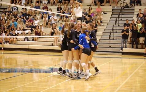 Girls volleyball teams were victorious last night