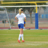 Savannah Tidd, senior varsity player, prepares for a game by practicing hard on the OHS soccer field after school last year.