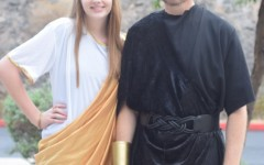 Spirit week arrives in Greece for Toga Tuesday