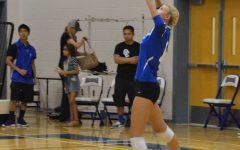 Varsity volleyball spikes mountain ridge