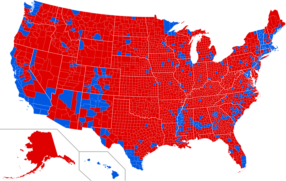 Election results by county. source from usa counties, author ali zifab