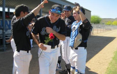 Varsity baseball plays Centennial in last home game