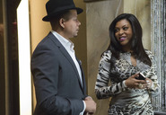 Lucious (Terrence Howard) and Cookie (Taraji P. Henson) talk in the Empire Enterprises building during the season premiere. Photo courtesy of FOX.