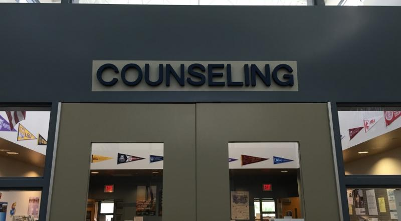 The+counseling+doors+stand+tall+and+welcoming+for+any+student+in+need+of+help.