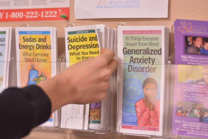 Several+pamphlets+are+available+for+students+in+the+nurses+office%2C+covering+topics+from+not+only+depression%2C+but+stress%2C+diet+and+more+as+well.