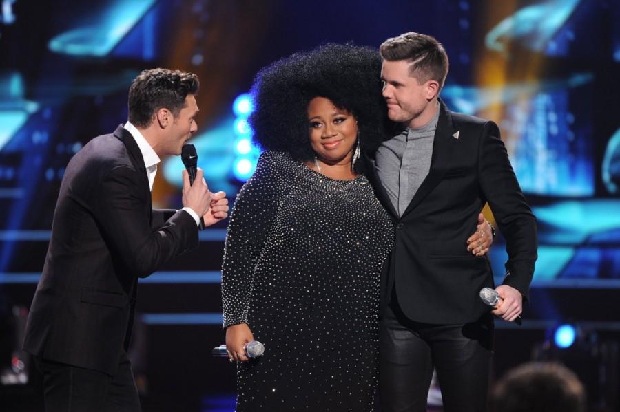 Ryan+Seacrest+stands+with+the+final+2+contestants+of+American+Idol%27s+farewell+season%2C+Trent+Harmon+and+La%27Porsha+Renae.+Photo+courtesy+of+FOX.