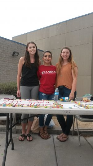 Amy Ponce, Jessica Hollock and Taylor Clover, present RLR at Club Rush.