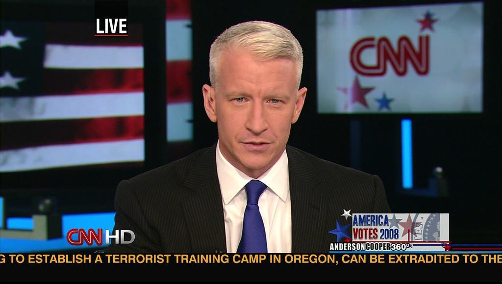Anderson Cooper, CNN. Photo courtesy of mroach.