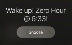 Zero hour makes students rise and shine for early classes