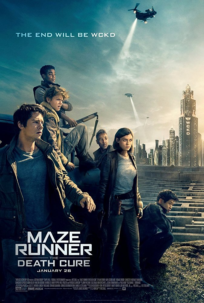 Official movie poster for Maze Runner: The Death Cure (2018).