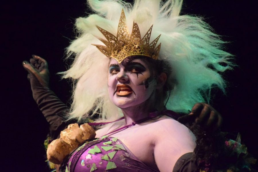 Lauren+Coe%2C+portraying+Ursula%2C+sings+the+hit+classic%2C+%22Poor+Unfortunate+Souls%2C%22+in+the+first+act+of+%22The+Little+Mermaid+Jr.%22