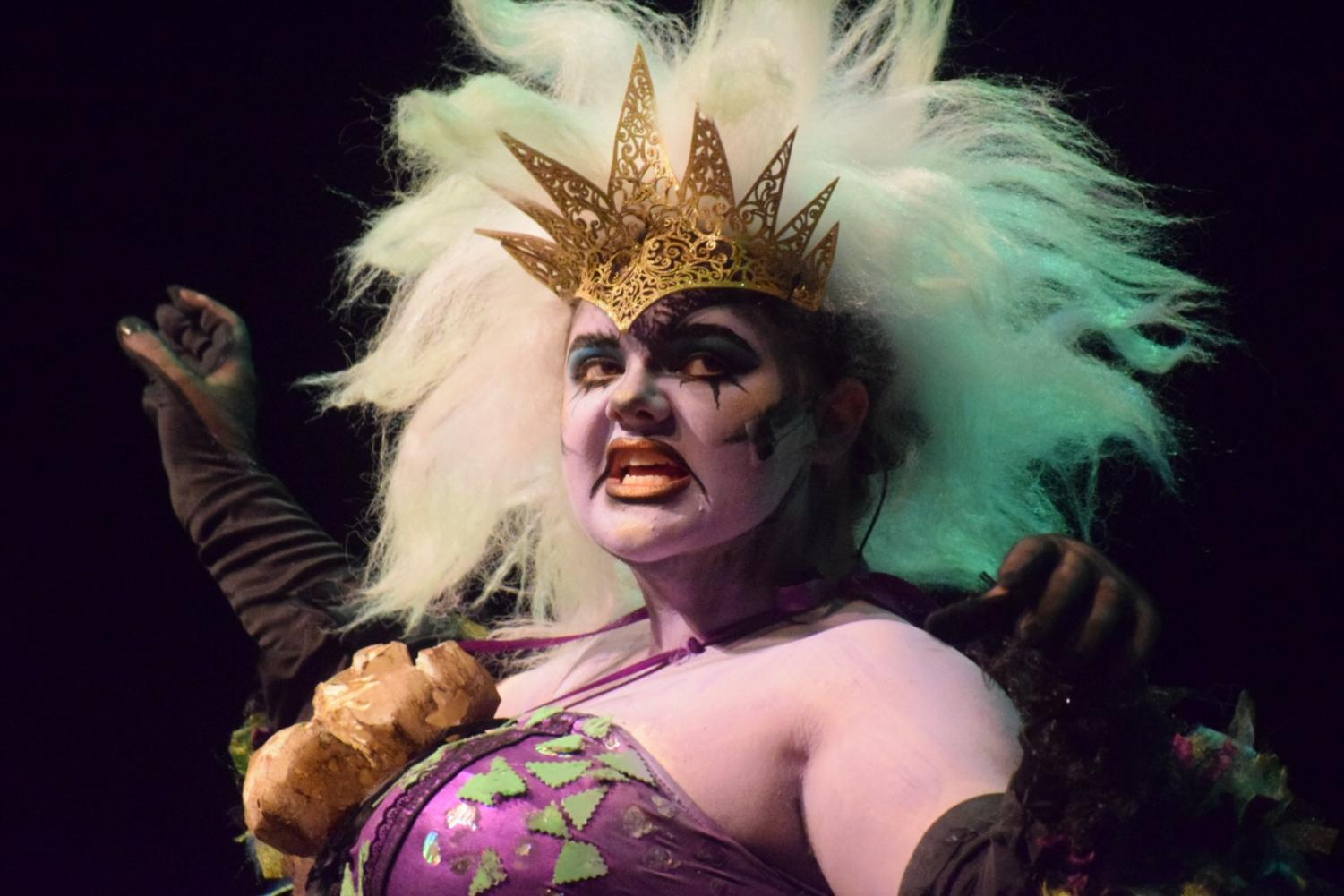 Lauren Coe, portraying Ursula, sings the hit classic,