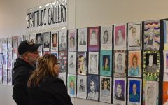 Students show appreciation with hand drawn portraits