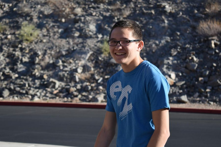 Co-captain Matt Toole, senior, poses for a picture outside before the auditions.
