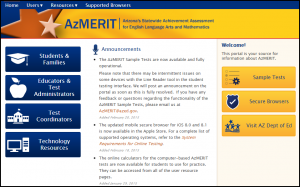 Students have to opportunity to use AzMERIT to raise their course grades.