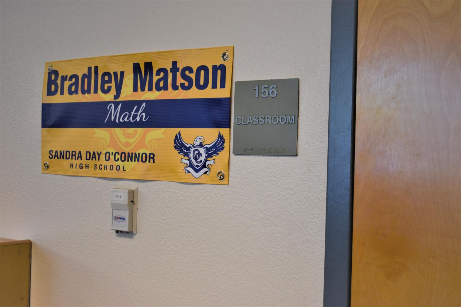 The entrance to Matson's room in the library.