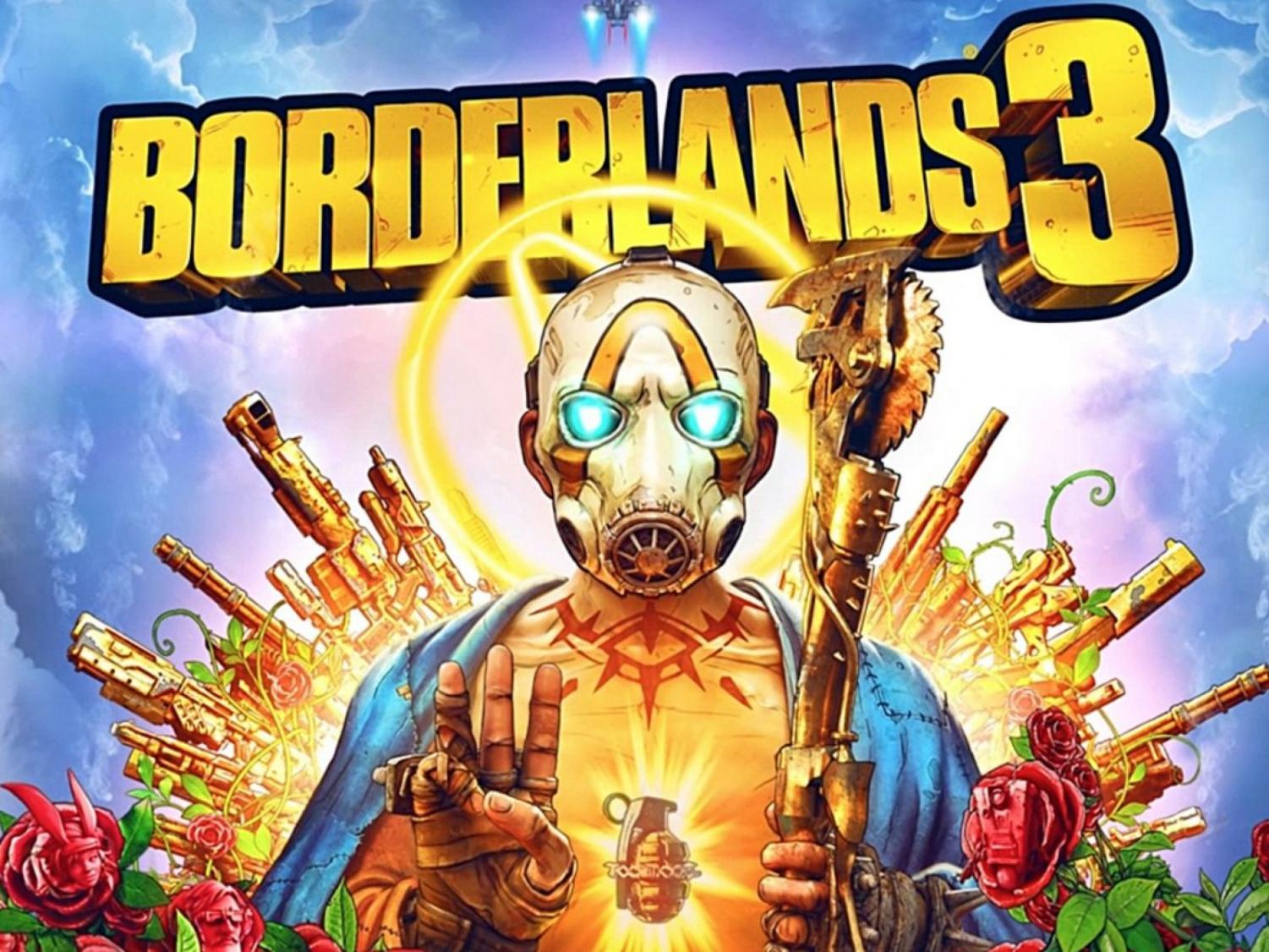 The image for the Borderlands 3 cover, a new game by Gearbox.