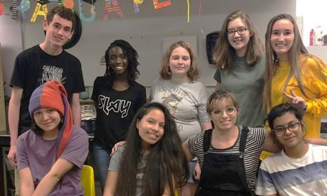 Photo courtesy of Sandra Zally. The Teen Artist Guild comes together for another group meeting.
