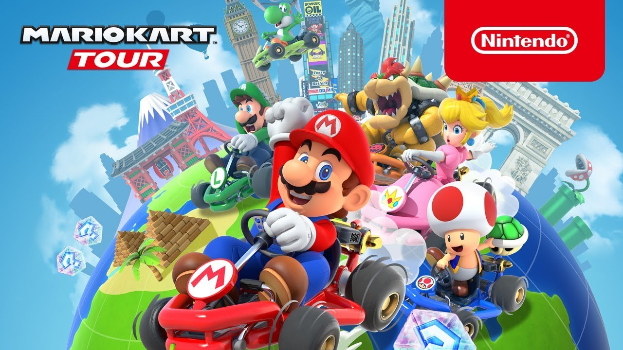 Cover art for the new Mario Kart game.