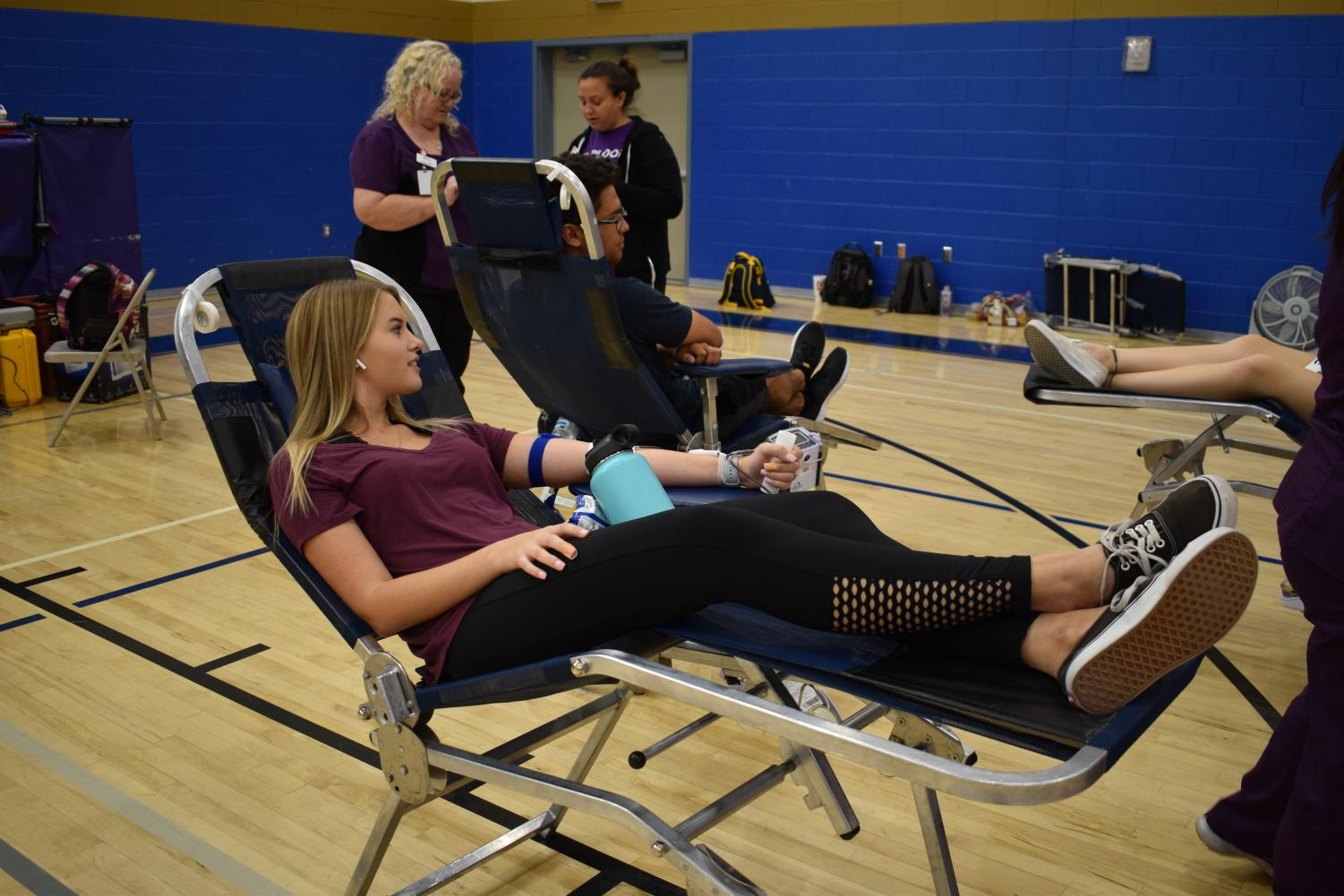 Lauryn White, junior, and other students donate blood to Vitalant: a small act that has the ability to save lives.