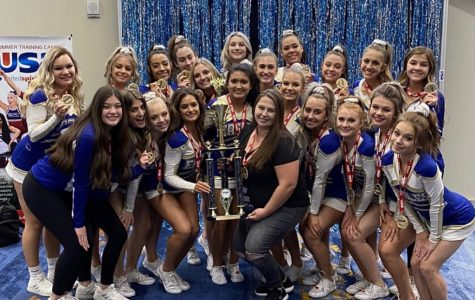 OHS Cheer celebrates their achievements at nationals.