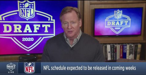 NFL Commissioner a Roger Goodell announced the 2020 draft picks from his basement during the fully virtual draft.