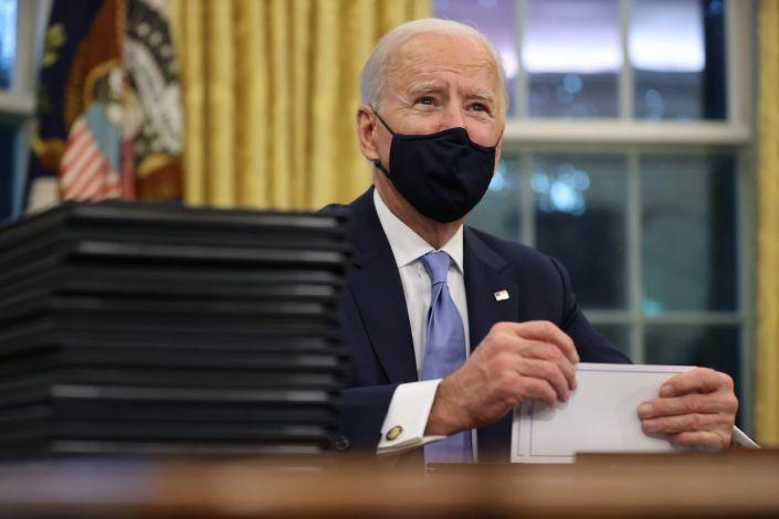 Biden's first few days in office