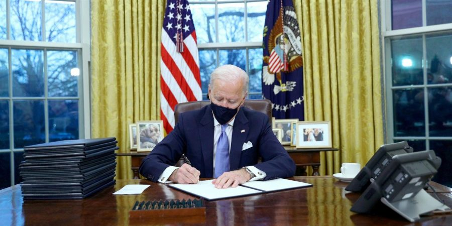 Biden's work with COVID-19 and climate change